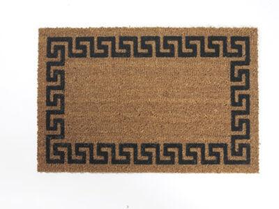 Decoir Tan/Black Coir Nonslip Doormat 30 in. L x 18 in. W
