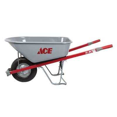 Ace Steel Single Wheel Wheelbarrow 6 cu. ft.