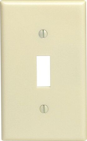Leviton 1 gang Ivory Thermoset Plastic Toggle Wall Plate 1 pk