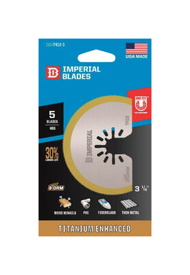 """Imperial Blades High Speed Steel Saw Blade 5 in. 5 pk CONSTRUCTED WITH HIGH SPEED STEEL 3-1/8"""" B"""