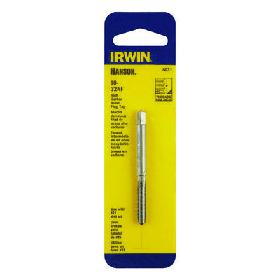 Irwin Hanson High Carbon Steel 10-32NF SAE Plug Tap 1