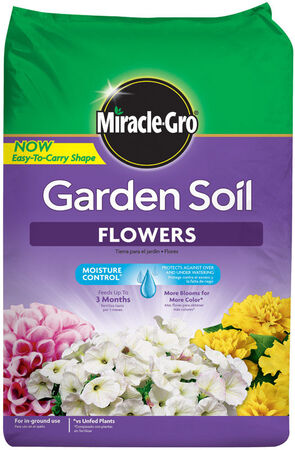 Miracle-Gro Flowers Moisture Control Garden Soil Fertilizer Enriched