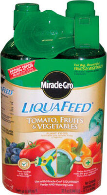Miracle-Gro LiquaFeed Plant Food For Tomatoes Fruits Vegetables 2-16 oz.