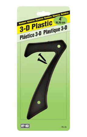 Hy-Ko Nail On Black Plastic Number 7 4 in.