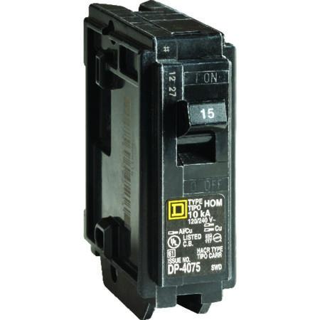 Square D HomeLine Single Pole 15 amps Circuit Breaker