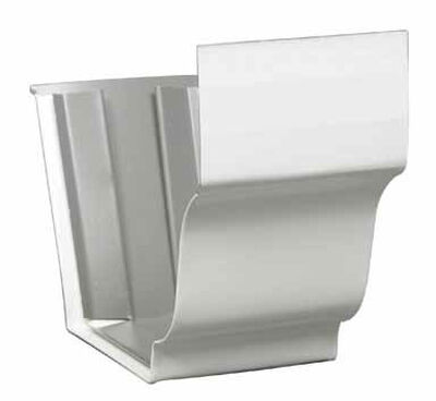 Amerimax 5 L x 5 in. H x 5 in. W Aluminum K Slip Connector White
