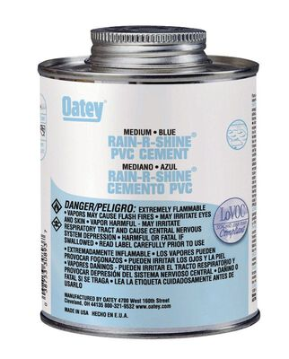 Oatey Rain-R-Shine Blue PVC Cement 16 oz.