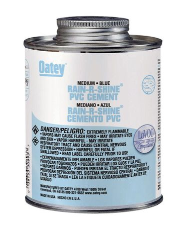 Oatey Rain-R-Shine Blue PVC Cement 16 oz.