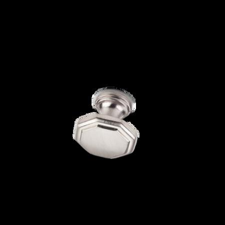 "1-3/16"" Diameter Geometric Cabinet Knob Satin Nickel"