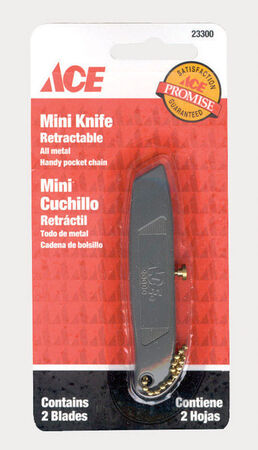 Ace Mini Retractable Blade Hobby Knife Silver