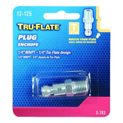 Tru-Flate Steel Air Plug 1/4 in. MNPT Male T