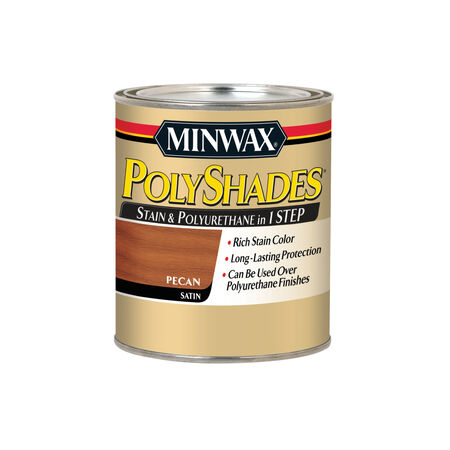 Minwax PolyShades Semi-Transparent Satin Pecan Oil-Based Stain 1 qt.
