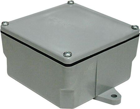 Cantex 6 in. H Square Junction Box Gray PVC