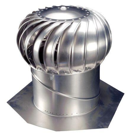 "Vent Turbine w/Base Aluminum Mill 14"""