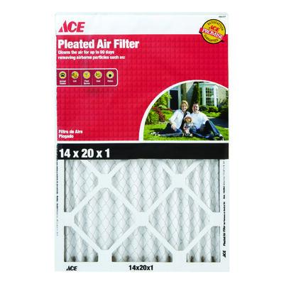 Ace 20 in. L x 14 in. W x 1 in. D Pleated Air Filter 8 MERV