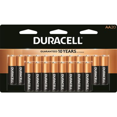 Duracell Coppertop AA Alkaline Batteries 1.5 volts 20 pk