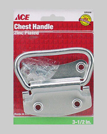 Ace Chest Handle 3-1/2 in. L 3-1/2 in. Zinc Plated 1 pk