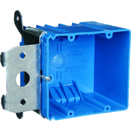 Carlon 3-5/8 in. H Rectangle 2 Gang Outlet Box Blue PVC