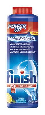 Finish Power Up 14 oz. Lemon Scent Dishwasher Detergent Booster