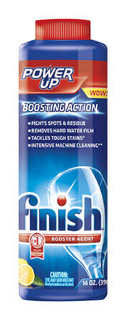 Finish Power Up 14 oz. Lemon Scent Dishwasher Detergent Booster
