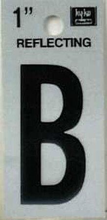 Hy-Ko Self-Adhesive Black Reflective Vinyl Letter B 1 in.