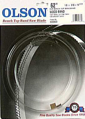 Olson 62 in. L x 0.1 in. W Carbon Steel Band Saw Blade