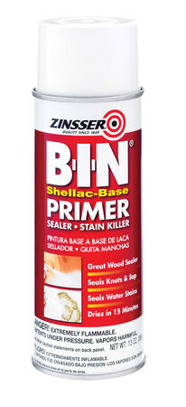 Zinsser BIN Shellac-Based Interior Primer and Sealer 13 oz. White