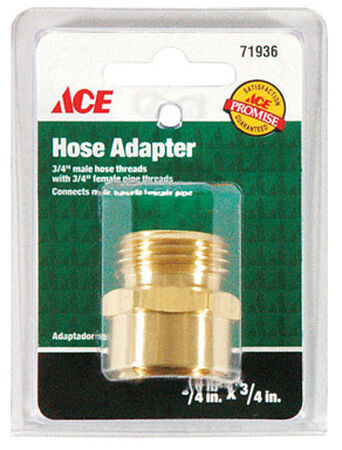 Ace 3/4 in. MHT x 3/4 in. FPT Brass Hose Coupling Male/Female Threaded