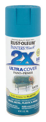 Rust-Oleum Painter's Touch Ultra Cover Lagoon Satin 2x Enamel Spray 12 oz.