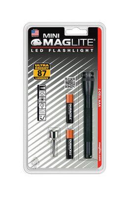 Maglite Mini 87 lumens Flashlight LED AAA Black