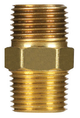 Ace 1/2 in. Dia. x 1/2 in. Dia. MPT To MPT Red Brass Hex Pipe Nipple