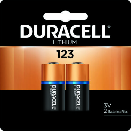 Duracell Ultra Lithium 123 3 volts Camera Battery DL123AB2PK