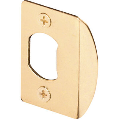 Prime-Line Standard Door Strike 1-7/16 in. x 2-1/4 in. Brass Plated Steel Fits All Standard Doorways
