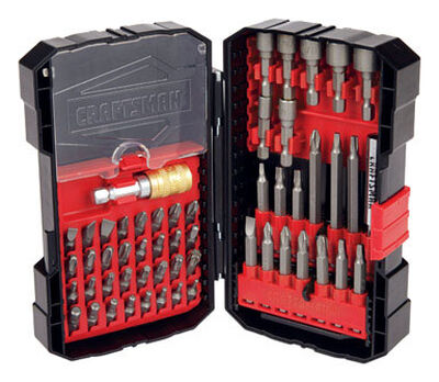 Craftsman Speed-Lok Multi Size Screwdriver Bit 1/4 in. Dia. x Assorted L 54 pc.