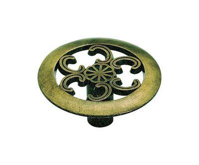Amerock Allison Round Furniture Knob 1-1/2 in. Dia. 3/4 in. Antique Brass 1 pk