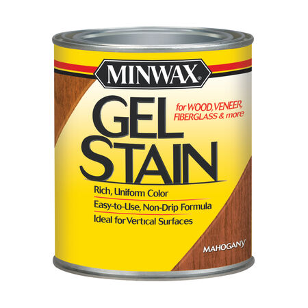 Minwax Wood Finish Transparent Low Luster Mahogany Oil-Based Gel Stain 1 qt.