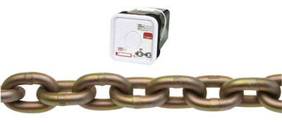 Campbell Chain Oval Link Transport Chain 45 ft. L x 3/8 in. Dia. Gold Carbon Steel