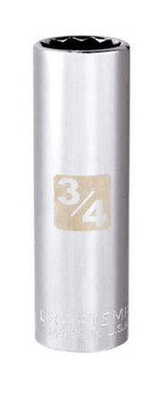Craftsman 3/4 Alloy Steel Deep 1/2 in. Drive in. drive Socket