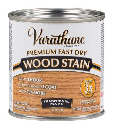 Varathane Premium Fast Dry Semi-Transparent Oil-Based Wood Stain Traditional Pecan .5 pt.