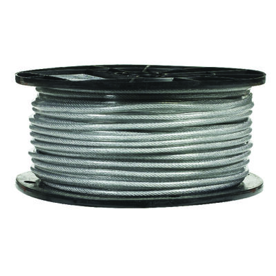 Campbell Chain Galvanized Steel Aircraft Cable 3/32 in. Dia. x 250 ft. L