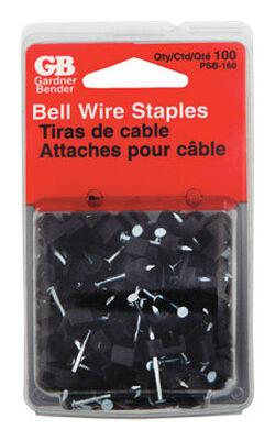 GB Zinc-plated Plastic Insulated Plastic Staple 100