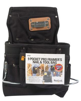 CLC Nylon Nail & Tool Bag 9 outside pockets