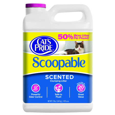 Cat's Pride Lightweight Scoopable Cat Litter Scented Formula Scent 10 lb.