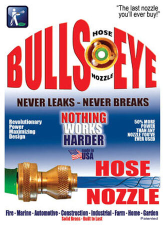 Bulls-Eye Adjustable Hose Nozzle Brass