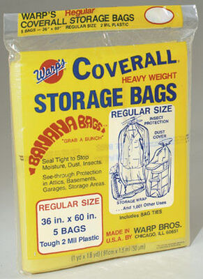 Warp's Regular Storage Bag Yellow 60 in. D