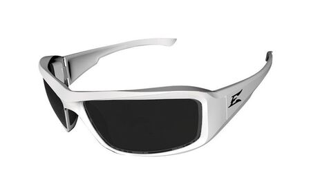 Edge Eyewear Multi-Purpose Safety Glasses Antifog Smoke Lens White Frame Bulk