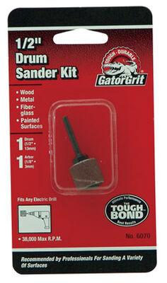 Gator Grit 0.5 in. Dia. x 0.3 in. Dia. 50 Grit Drum Sanders Kit Aluminum Oxide