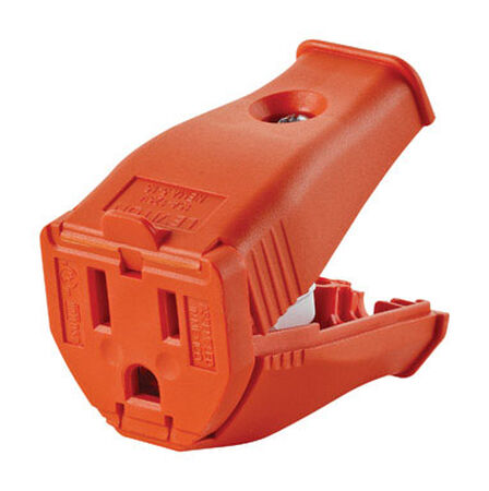 Leviton 15 amps 5-15R 125 volts Orange Connector