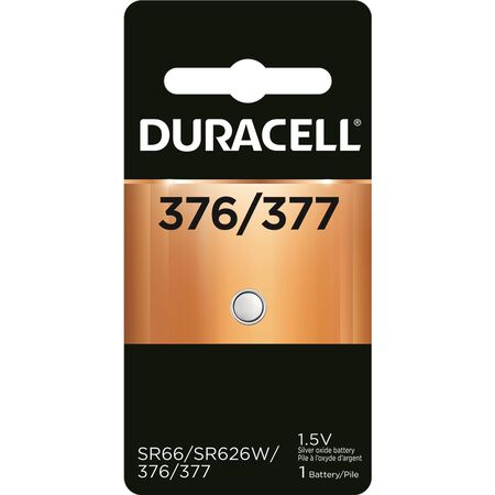 Duracell 377 Silver Oxide Watch/Electronic Battery 1.5 volts 1 pk