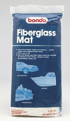 Bondo Fiberglass Mat 8 sq. ft. For Panels Molds & Bridging Areas
